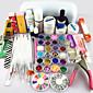 62pcs gel za nokte praktične nailproducts uv gel lampa nail art alat za setove manikura set