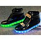 Žene Sneakers Proljeće Ljeto Jesen Zima Udobne cipele Osvijetlite Shoes PU Aktivnosti u prirodi Ravna potpetica LED Crna Bijela Trčanje