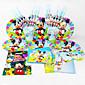 automobili 92pcs Birthday Party dekoracije dječji evnent stranka pomagala stranka dekoracija 12 ljudi koriste