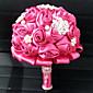 "Svatební kytice Kulatý Růže Kytice Svatba Satén 18 cm (cca 7,09"")"