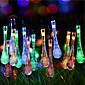 Solarni Božićna svjetla kap vode 13ft 20 doveli vodootporan sunčeve svjetlosti niz otvoreni za vrtove, vjenčanje, božićno drvce