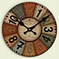 コンテンポラリー / 伝統風 / レトロ風 / オフィス ハウス型 / 家族 / 学校/卒業 壁時計,円形 ペーパー / その他 34CM/14英尺 屋内 クロック