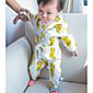 Dijete Komplet odjeće Ležerno/za svaki dan,Jednobojni-Pamuk-Jesen-Bijela / Žuta
