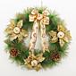 Vánoční věnec 3 barvy jehličí vánoční dekorace pro domácí průměr 40 cm strana navidad nový rok zásoby