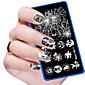 kai yunly 1ks halloween kutilství nail art image razítko ražení destičky manikúra šablonu