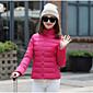 Dámské Standardní S vycpávkou Jednoduché Běžné/Denní / Velké velikosti Jednobarevné-Kabát Polyester Polyester Dlouhý rukávRůžová / Bílá /