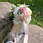 Cvijeće za vjenčanje Krug Roses Ljiljani Peonies Buketi Vjenčanje Party / VečernjiPolyester Saten Taft Čipka Spandex Osušeni cvijet