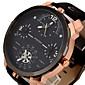 Pánské Sportovní hodinky Vojenské hodinky Hodinky k šatům Módní hodinky Náramkové hodinky Křemenný Hodinky s trojitým časem Punk Kůže