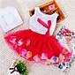 Djevojka je LjetoCvjetni print-Mješavina pamuka-Ljeto-Plava / Ružičasta / Ljubičasta / Crvena / Žuta