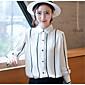 Majica Ženske,Jednostavno Izlasci Prugasti uzorak-Dugih rukava Kragna košulje Pamuk