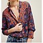 Dámské Geometrický Jdeme ven Jednoduché Košile Polyester Košilový límec Dlouhý rukáv