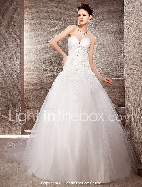 Vestido de novia de organza